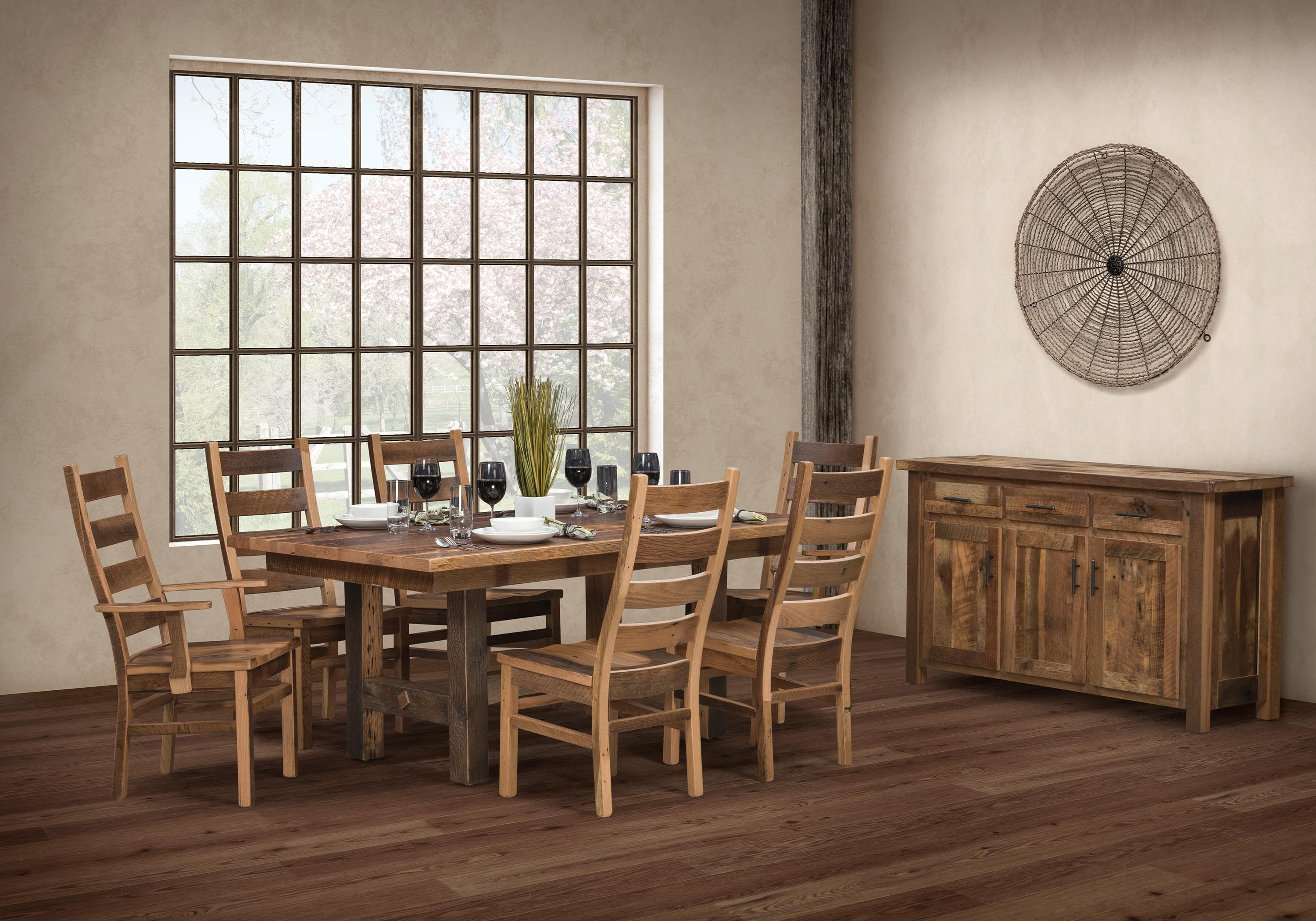 Wayside Dining Room Furniture: Wayside Custom Furniture Grove 8pc Dining Group
