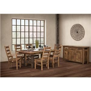 Wayside Custom Furniture Grove 8pc Dining Group