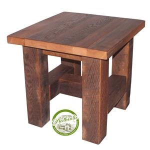Reclaimed Barnwood End Table