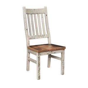 Wayside Custom Furniture Farmhouse Reclaimed Barnwood Side Chair