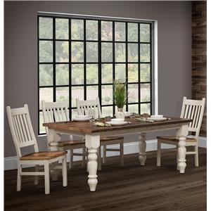 Wayside Custom Furniture Farmhouse 5pc Dining Room Group