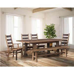 Wayside Custom Furniture Cleveland 6pc Dining Room Group