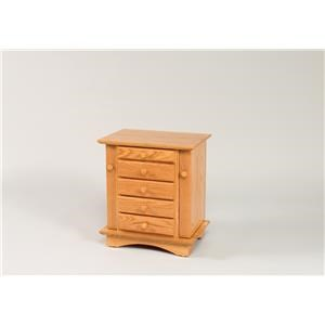 "Wayside Custom Furniture Jewelry Storage 20"" Shaker Dresser Top Jewelry Cabinet"