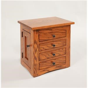 "17½"" Flush Mission Dresser Top Jewelry Cabin"