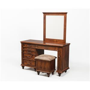 Wayside Custom Furniture Dressing Tables Plymouth Jewelry Vanity & Mirror