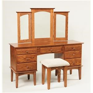 Wayside Custom Furniture Dressing Tables Shaker Vanity & Mirror