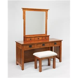 Wayside Custom Furniture Dressing Tables Mission Vanity & Mirror