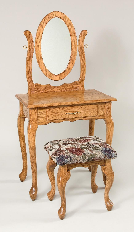 Wayside Custom Furniture Dressing Tables Queen Anne Vanity Mirror Wayside Furniture Vanities Vanity Sets