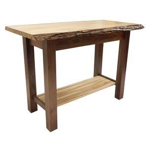 Wayside Custom Furniture Settler's Live Live Edge Sofa Table