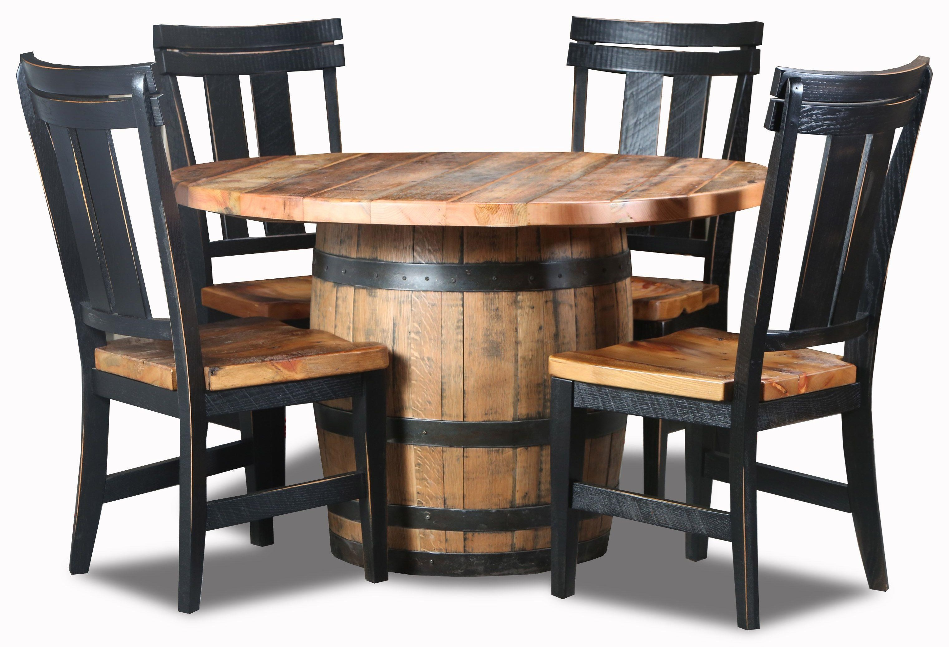5pc Whiskey Barrel Dinette
