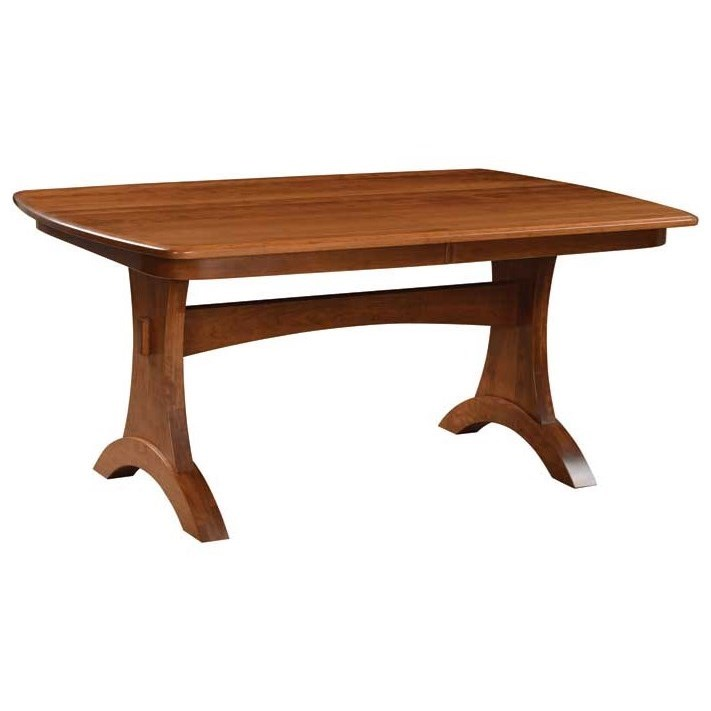 Custom Amish Dining Bridgeport Table by Weaver Woodcraft at Saugerties Furniture Mart