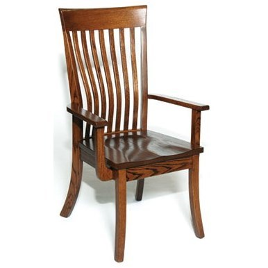 Custom Amish Dining Christy Arm Chair by Weaver Woodcraft at Saugerties Furniture Mart