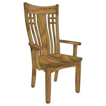 Custom Amish Dining Larson Arm Chair by Weaver Woodcraft at Saugerties Furniture Mart