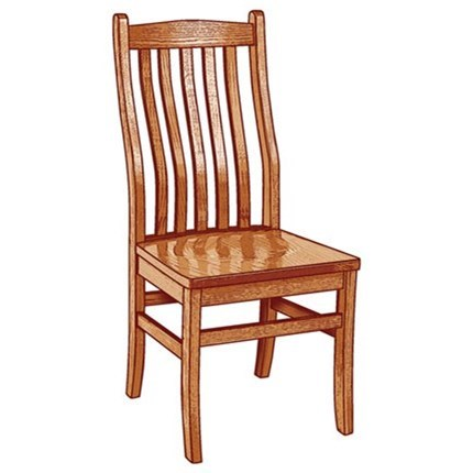 Custom Amish Dining Lincoln Side Chair by Weaver Woodcraft at Saugerties Furniture Mart