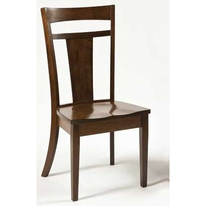 Custom Amish Dining Livingston Side Chair by Weaver Woodcraft at Saugerties Furniture Mart