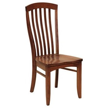 Custom Amish Dining Malibu Side Chair by Weaver Woodcraft at Saugerties Furniture Mart