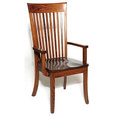 Custom Amish Dining OW Shaker Arm Chair by Weaver Woodcraft at Saugerties Furniture Mart