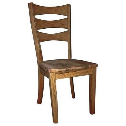 Custom Amish Dining Sierra Side Chair by Weaver Woodcraft at Saugerties Furniture Mart