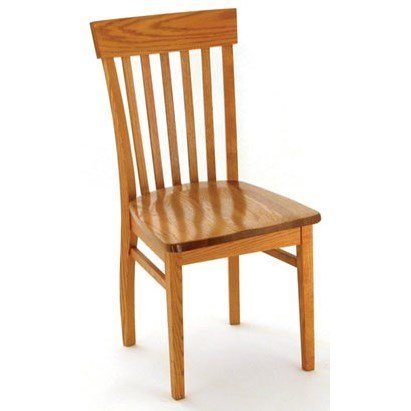Custom Amish Dining Venice Side Chair by Weaver Woodcraft at Saugerties Furniture Mart