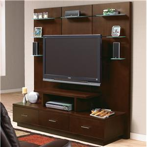 Welton USA 5th Avenue II 3 Piece Audio Video Credenza and Wall System