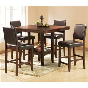 Welton USA Alford 5 Piece Counter Height Table Set