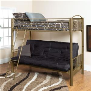 Bayview II Twin/Futon bunk bed by Welton USA