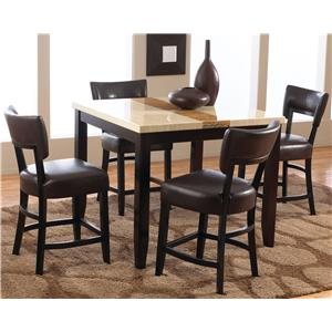 Trinity  5 Piece Counter Table and Stool Set by Welton USA