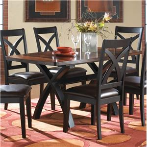 Welton USA Xanado Hardwood Dining Table With X Shaped Leg Pedestals