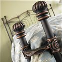 Wesley Allen Iron Beds Queen Chelsea Iron Headboard and Open Footboard Bed with Return Posts