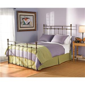 Morris Home Furnishings Iron Beds Queen Sena Poster Bed