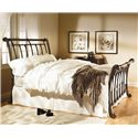 Wesley Allen Iron Beds Brookshire Sleigh Bed - Item Number: CB1037