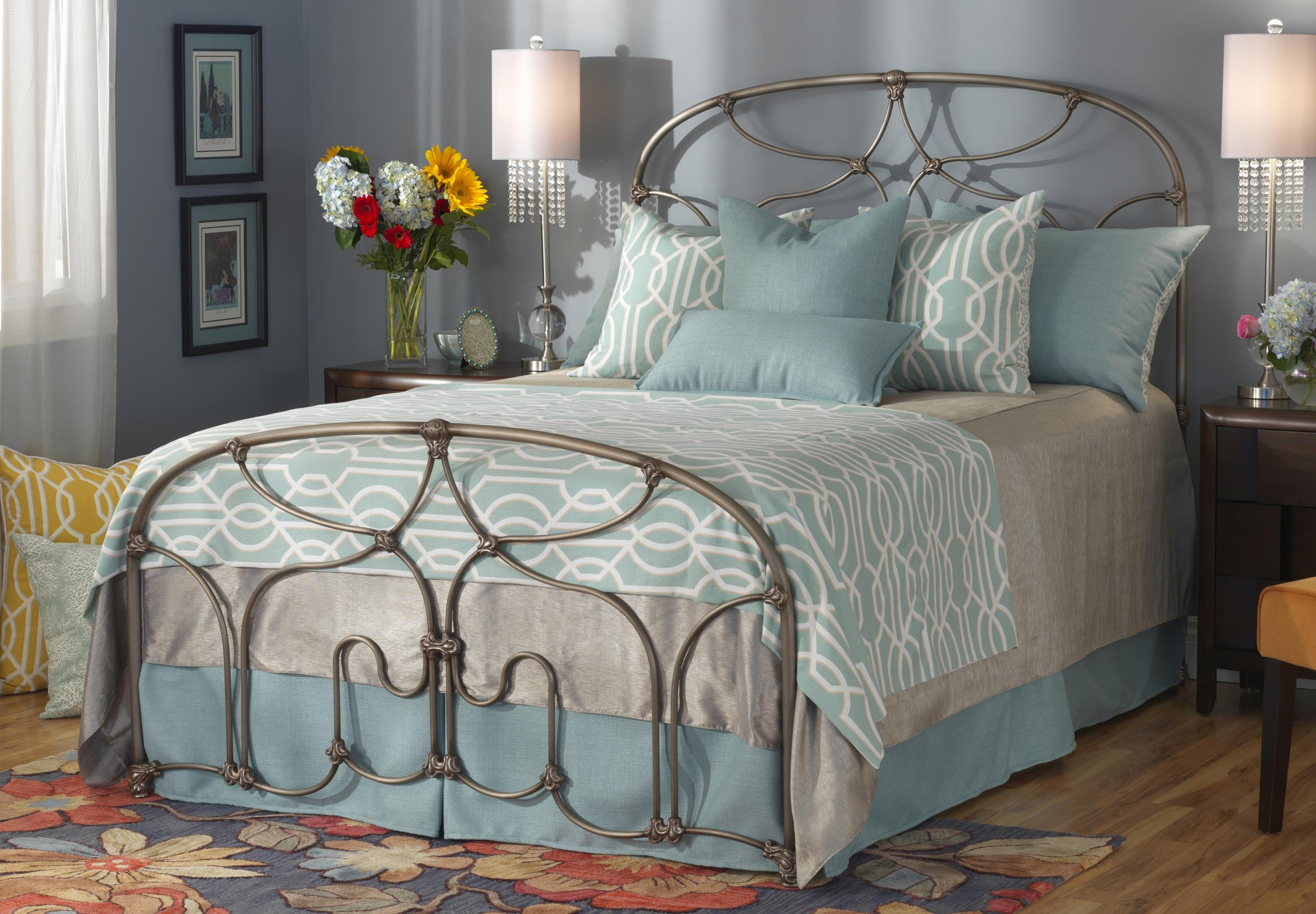 Wesley Allen Iron Beds Queen Lafayette Bed - Item Number: CB1061Q