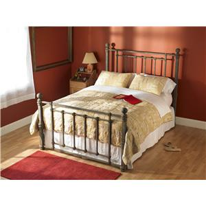 Morris Home Furnishings Iron Beds Queen Hancock Poster Bed