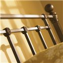 Morris Home Furnishings Iron Beds Twin Hancock Iron Poster Bed