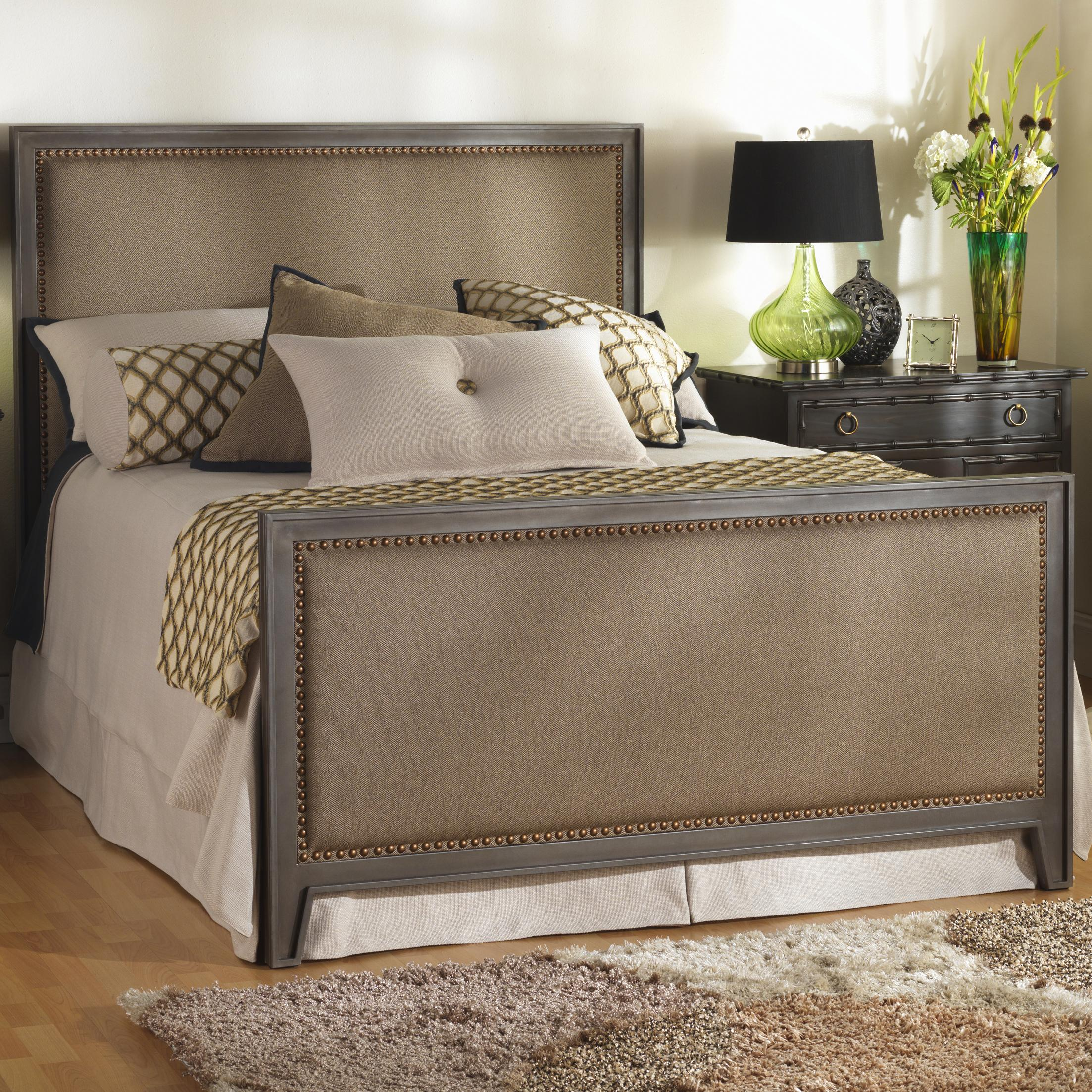 Wesley Allen Iron Beds Full Avery Iron and Upholstered Bed - Item Number: CB1230F