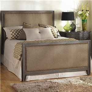 Wesley Allen Iron Beds Queen Avery Iron and Upholstered Bed