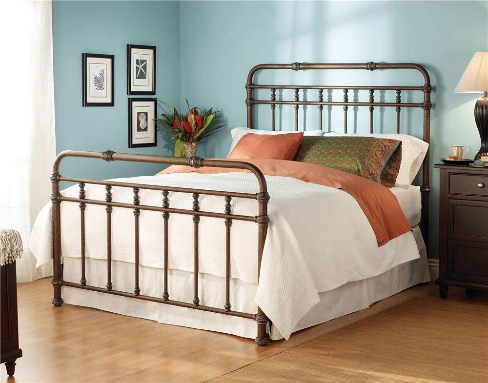 Wesley Allen Iron Beds Queen Complete Laredo Headboard and Footboard ...