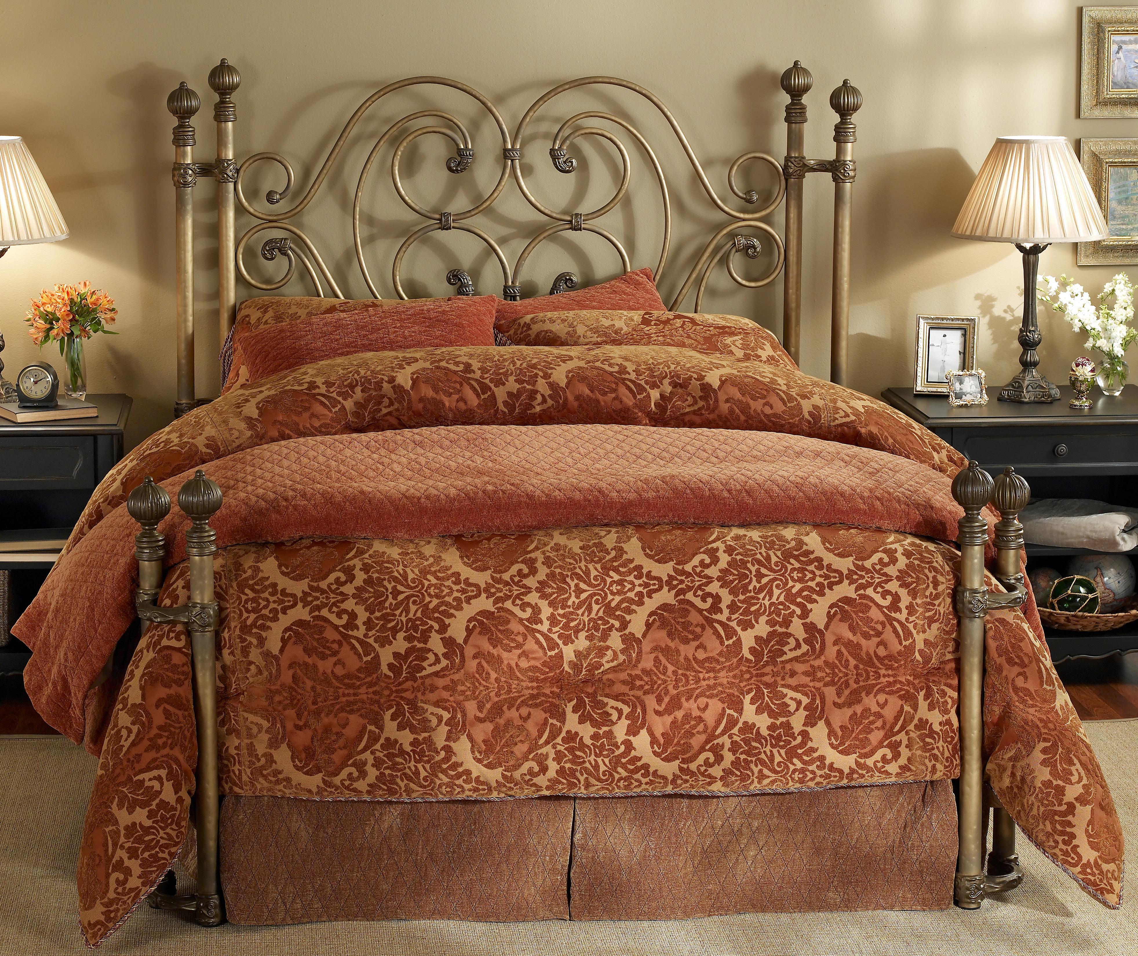 Wesley Allen Iron Beds King Alhambra Iron Headboard Bed - Item Number: HOFRP1367K