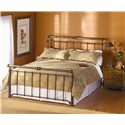 Wesley Allen Iron Beds Sheffield Sleigh Bed - Item Number: SheffieldCB
