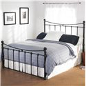 Wesley Allen Quati  Queen Headboard and Footboard Bed - Item Number: CB1046-Black