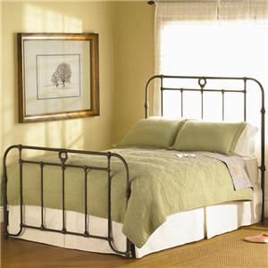 Wesley Allen Wellington  Iron Headboard and Footboard Bed