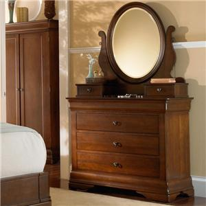 West Brothers Louis Philippe Chest and Mirror Combo
