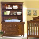 Westwood Design Cypress Point Dressing Combo Plus with Easy Reach Drawers - Shown with Optional Torch Light Hutch