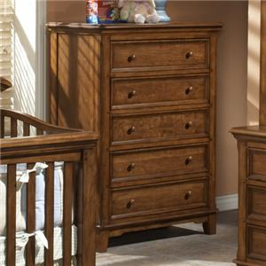 Westwood Design Jonesport American Cherry Chest with Five Drawers