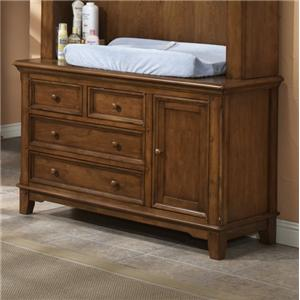 Westwood Design Jonesport American Cherry Dressing Combo with Easy Reach Drawers
