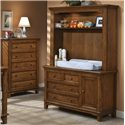 Westwood Design Jonesport Dressing Combo Plus with Hutch