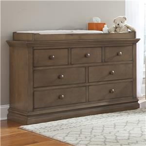 Westwood Design Stone Harbor 7 Drawer Dresser with Changing Top