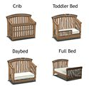 Westwood Design Stratton Convertible Crib / Toddler Bed / Daybed /  Full-Size Bed - Crib Transforms with Your Child into a Toddler Bed, Daybed, and Full Bed