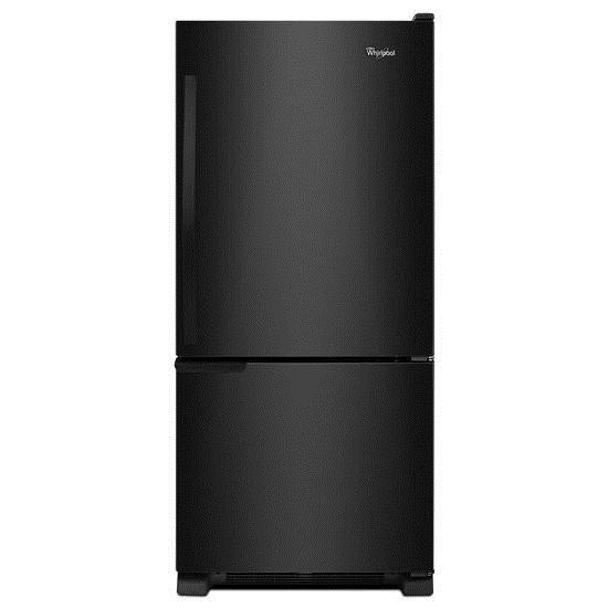 Whirlpool Bottom Freezer Refrigerators - 2014 19 cu. ft. Bottom-Freezer Refrigerator with  - Item Number: WRB119WFBB