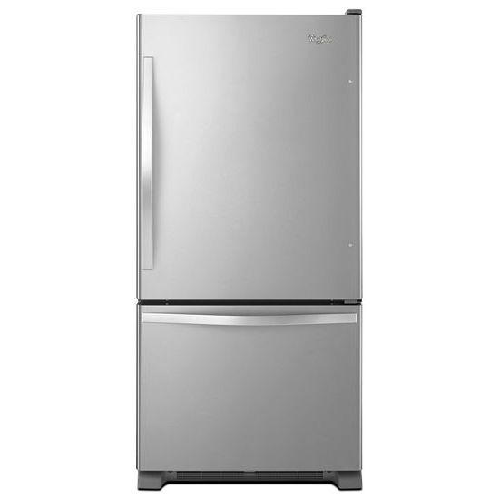 Whirlpool Bottom Freezer Refrigerators - 2014 22 cu. ft. Bottom-Freezer Refrigerator with  - Item Number: WRB322DMBM